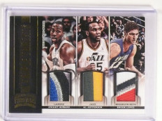 12-13 Threads Dwight Howard Jefferson Brook Lopez triple patch #D19/25 *50572