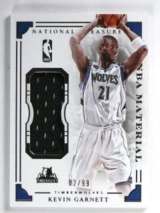 2015-16 National Treasures Kevin Garnett NBA Materials Jersey #D02/99 #17 *57155