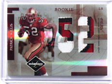 2007 Leaf Limited Patrick Willis rc rookie jumbo 3clr patch #D06/10 #RJ-28 *3920