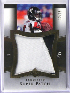 2005 UD Exquisite Super Patch Michael Vick jumbo 2clr patch #D12/15 #SU-MV *3912