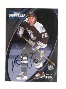02-03 BAP Signature Series Martin St. Louis autograph auto #91 *52053