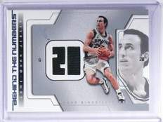 03-04 Fleer EX Behind The Numbers Manu Ginobili jersey #MG-BTNGU *48074