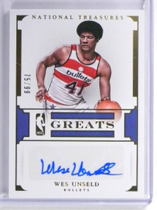 2015-16 National Treasures Wes Unseld Greats Autograph auto #D75/99 *56995