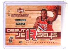 2006-07 Upper deck Hardcourt LaMarcus Alridge Debut  Rookie Jersey #16/99 *47126