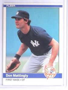 1984 Fleer Don Mattingly Rookie RC #131 Yankees *57039