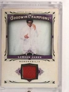 2013 Upper Deck Goodwin Champions Lebron James jersey #M-LJ *46789