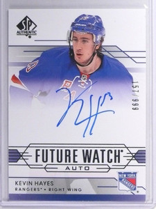 14-15 Sp Authentic Kevin Hayes autograph auto rc rookie #D157/999 #294 *49392