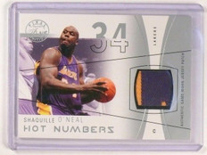 03-04 Flair Final Edition Hot Numbers Shaquille O'neal 2clr patch #D35/50 *46321
