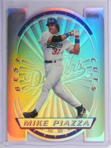1996 Bowman's Best Mike Piazza Cuts Cut Refractor #9 *57083