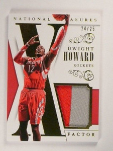 13-14 National Treasures X Factor Dwight Howard 2clr patch #D24/25 #29 *46219