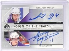 06-07 SP Authenic Dual Sign Of Times Alexander Frolov Anze Kopitar Autograph *49
