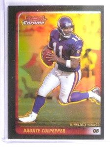 2003 Bowman Chrome Gold Refractor Daunte Culpepper #D36/50 #44 *62642