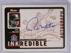 1999 Upper Deck Retro Inkredible Paul Molitor Autograph #PM *58881