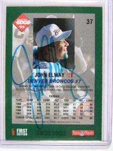 1992 Collector's Edge John Elway auto autograph #37 *30081