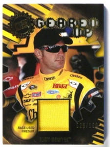 2011 Press Pass Geared Up Clint Bowyer Race Used firesuit #D25/100 *32629