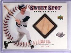 2001 Upper Deck Sweet Spot Game Bat Reggie Jackson #BRJ *59933