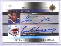 2005 Ultimate Collection Steve Jackson & Earl Campbell auto autograph #D17/35 *3
