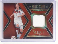 2015 Panini Select Stars Red Prizm Benedikt Howedes jersey patch #D45/49 *52361