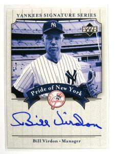 2003 UD Yankees Signature Series Pride Bill Virdon auto autograph *29974