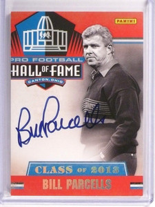 2013 Panini Hall Of Fame Class of 2013 Bill Parcells autograph auto #5 *50535