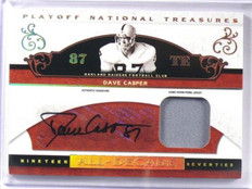 2007 National Treasures All-Decade Dave Casper auto autograph patch #D7/9 *39177