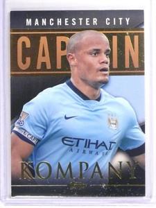 2014 Topps English Premier Gold Captain Black Vincent Kompany  #D21/25 *50328