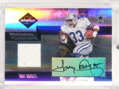 2005 Leaf Limited Monikers Tony Dorsett & Jones autograph jersey /25 #44 *50034