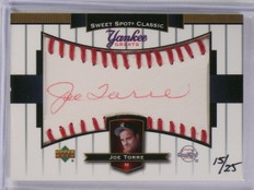 2003 UD Sweet Spot Yankee Greats RED INK Autograph Joe Torre #D15/25 *58855