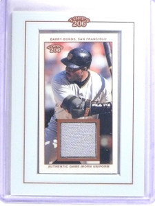 2002 Topps 206 Relics Barry Bonds Jersey Uniform #TRBB *63265