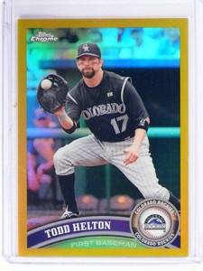 2011 Topps Chrome Todd Helton Gold Refractor #D06/50 #87 *49663