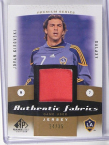 2011 Sp Game Used Fabrics Jovan Kirovski patch jersey #D24/35 *38750