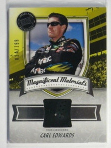 2011 Press Pass Fanfare Magnificent Carl Edwards Shoe #D24/199 *32174