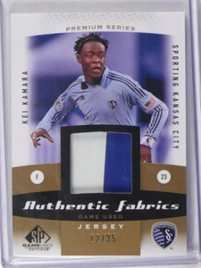 2011 Sp Game used Kei Kamara 2 color patch jersey #D12/35 *38748