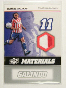2008 Upper Deck MLS Soccer Maykel Galindo jersey *31285