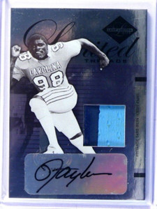 2005 Leaf Limited Threads Lawrence Taylor auto autograph 2clr patch #D19/25 *392