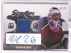 2016 Leaf Enshrined Signature Showcase Patrick Roy autograph jersey #D10/25 *551