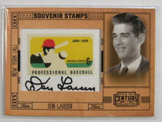 2010 Panini Century Collection Don Larsen auto autograph stamp #D17/25 #52 *2505