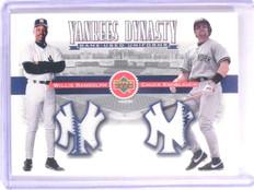 2002 Upper Deck Yankee Dynasty Willie Randolph Knoblauch Dual Jersey #YJRK *6641