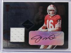 2005 Leaf Limited Trademarks Joe Montana auto autograph jersey #D34/50 #TT-16 *3