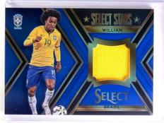 2015 Select Soccer Willian Stars Memorabilia Jersey Blue #D35/99 #STW *53971