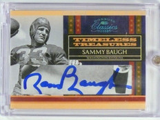 2008 Donruss Classics Timeless Treasures Sammy Baugh autograph auto #D03/15 *445