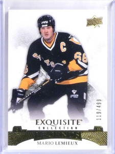 2015-16 Upper Deck Exquisite Mario Lemieux Base Card #D119/499 #33 *56803