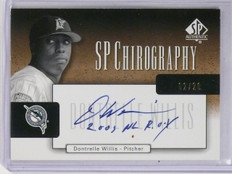 2004 SP Authentic Chirography Gold Dontrelle Willis Autograph auto #D02/20 *5876