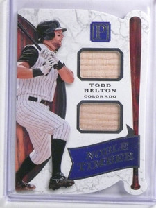 2016 Panini Pantheon Noble Timber Todd Helton Dual Jersey #D90/99 #NTTH *66399