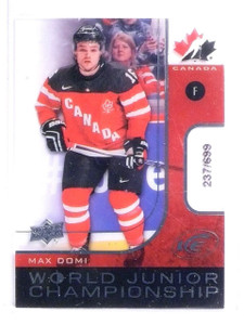 2015-16 Upper Deck Ice Max Domi World Junior Championship rc #D237/699 *56765