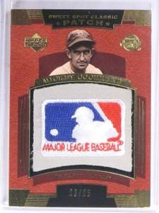 2004 UD Sweet Spot Classic Mickey Cochrane MLB Logoman Patch #D23/25  *61157