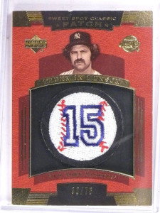 2004 UD Sweet Spot Classic Thurman Munson Number Patch #D30/75 #SSPTM  *61453