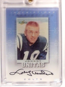 1999 Score Inscriptions Johnny Unitas autograph auto #JU-19 *46041