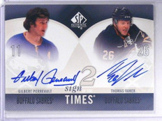 10-11 Sp Authentic Sign Times Gilbert Perreault & Thomas Vanek auto autograph *4