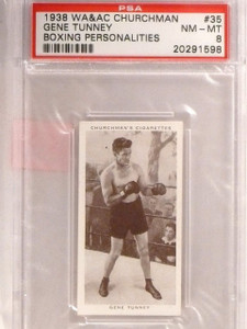1938 Churchman's Cigarettes Boxing Gene Tunney #35 PSA 8 *67415